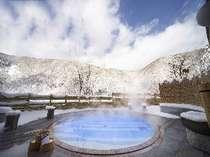 会津 芦ノ牧温泉 丸峰にて冬の贅沢、雪見温泉